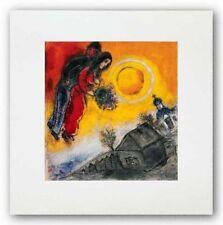 ART PRINT Le Couple Au Ciel Jaune Marc Chagall