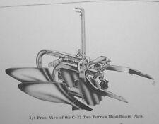 IH International Farmall Super C-22 2pt Fast Hitch 2 Bottom Turning Plow Manual