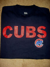 Mens Navy CHICAGO CUBS Baseball T-Shirt Medium