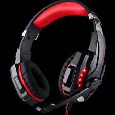 Gaming Ecouteurs Casque Audio Mic LED pour Jeux Ordinateur PC Console RD