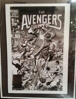 MARVEL Comics AVENGERS #268 Rare Production Art Cover by Buscema CAPTAIN AMERICA
