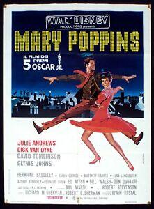 MARY POPPINS poster manifesto Julie Andrews Dick Van Dyke Disney Musical E21