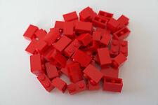 50 Lego Bausteine 1x2 rot NEU Grundsteine Basic Steine 3004