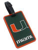 Miami Hurricanes Travel Bag Tag ID Luggage Tag Team Colors