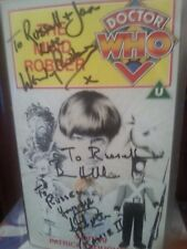 Mind Robber VHS video Doctor Who Rare Signed Wendy Padbury Bernard Horsfall etc