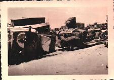 ANNI '40 FOTO CIMITERO DI CARRI ARMATI IN AFRICA TRIPOLITANIA -