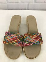 Italian Shoemakers Women's Multicolor Slides Sandals Scuffs Sz 9 Made In Italy