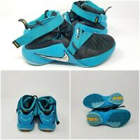 Nike Lebron James Zoom Soldier 9 TB Blue Black Basketball Shoes Boys Size 4Y