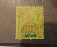 Senegal 1892, 20c ,Sc 44,VF MLH* (FC-4)