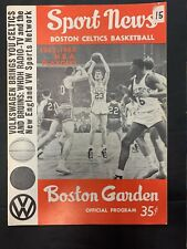1963-64 NBA FINALS SAN FRANCISCO WARRIORS @ BOSTON CELTICS BASKETBALL PROGRAM