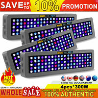 4PCS Dimmable 300W LED Aquarium Grow Light Full Spectrum for Reef Coral LPS/SPS