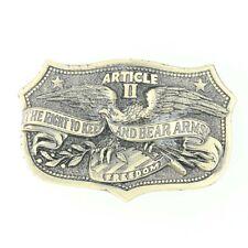 2nd Amendment Belt Buckle Bear Arms Patriotic Great American Buckle 459 USA