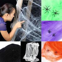 Spinnengewebe Halloween Spinnennetz weiss Schocker Deko Party Spass