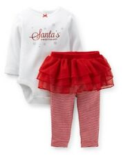 NWT Infant Girls Carter's Christmas Outfit 9m Santa's Sweetheart 2pc NEW Red