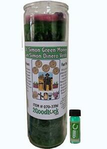 St. Simon Green Money Dressed Candle Kit - San Simon Dinero Verde