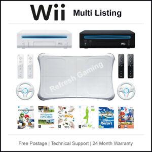 Nintendo Wii Console - 2 Remotes - Multi-Listing - Choose Your Bundle