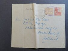 Netherlands Indies 1929 Ship Cover to Holland / Fold - Z7867