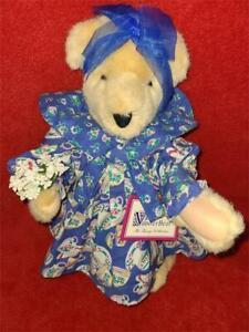 "ALICE VANDER BEAR RETIRED TEACUP COLLECTION 18"" NORTH AMERICAN BEAR 1990   NICE!"