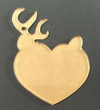 "(10) 3"" Buck & Doe Christmas Ornament Clear Acrylic 1/8"" Keychain Blanks"