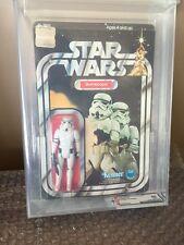 Vintage 1978 Kenner Star Wars Stormtrooper 12 Back-B Card AFA 85 Freshly Graded!