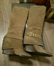 Vince camuto women boots size 8 taupe brown brushed suede nib