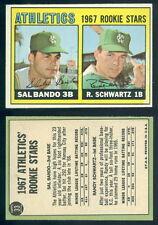(40492) 1967 Topps 33 Rookie Stars-Sal Bando-Schwartz Athletics-EM