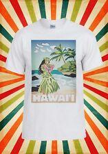 Hawaii Hula Girl Aloha Cool Funny Men Women Vest Tank Top Unisex T Shirt 430
