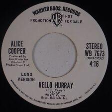 ALICE COOPER: Hello Hurray USA DJ PROMO Orig WB NM Rock Classic!