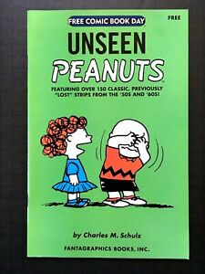 UNSEEN PEANUTS VF Schulz Fantagraphics FCBD 2007 comic white pages sampler RARE
