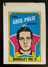 1971-72 OPC O-Pee-Chee Booklets #9 Greg Polis Pittsburgh Penguins