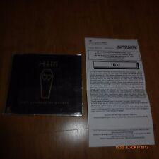 HIM - THE FUNERAL OF HEARTS  - GERMAN PROMO CD - LOVE METAL - RARE + INFO SHEET
