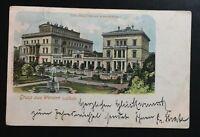 """AK Litho """"Gruss aus WERDEN a.d. Ruhr Villa Hügel Krupp'sches Schloss 1900"""