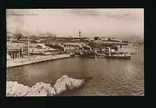 Devon PLYMOUTH Hoe Piers & paddle steamers used c1911/12 RP PPC