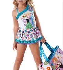 50%off Baby Little Girls Swimwear Frozen Elsa Anna Floral One Piece Swimsuits 2T