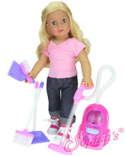 """6 piece vacuum cleaner & accessories for 18"""" American Girl Dolls"""