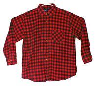 PURITAN flannel shirt XL 80s 90s grunge punk trucker distressed vtg fade