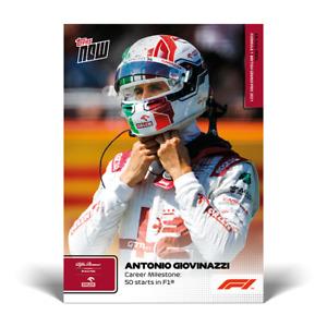 14k FB No Cancel- Antonio Giovinazzi 2021 Topps Now Formula 1 F1 Card #35