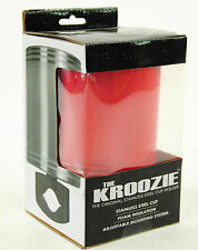 KROOZIE CUPS HYDRATION 2.0 STEEL RED BICYCLE DRINK CUP HOLDER