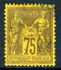 France 1890 Peace & Commerce 75¢ TYPE II  Brown on Pale Orange VFU Z295 ⭐⭐