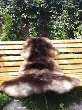 Dark Brown Colour Genuine Sheepskin Rug 100-55cm