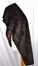 LA MAISON DE LA FAUSSE FOURRURE Paris brown faux fur scarf shawl wrap