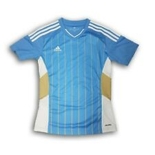 Authentic Adidas Blue With Gold Stripes Men's Short Sleeve Jersey Size 2Xl