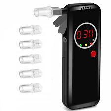 LCD Digital Breath Alcohol Tester Breathalyzer Analyzer With 6 Mouthpiece