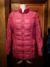 Étage Fuchsia Pink Feather & Down Filling Danish tampon Jacket Size EU 36 UK 8