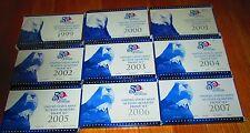 45 Proof Quarters State 1999 2000 01 02 03 04 2005 2006 2007 U.S. Mint Box & Coa