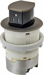 Hubbell RCT200BZE 15A 125V Tamper Resistant Bronze Pop-Up Countertop Receptacle