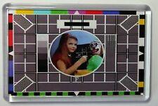 TV TEST CARD FRIDGE MAGNET-  RETRO TV -FREE Postage