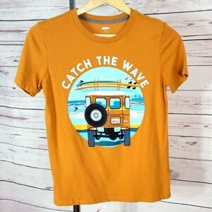 Old Navy gold brown Catch the Wave short sleeve graphic t shirt Size Large 10 12