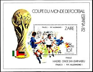 CONGO / ZAIRE 1982 football CUP SPAIN S/s ITALY-GERMANY game MNH SPORTS (3ALL)