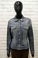 Giacca in Jeans Blu Donna GAS Giubbino Taglia Size L Jacket Woman Blouson Homme